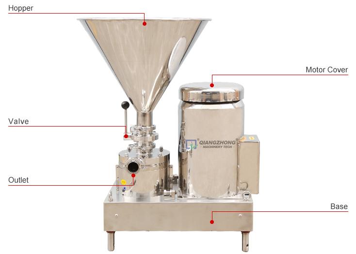 Water and powder mixing machine 02